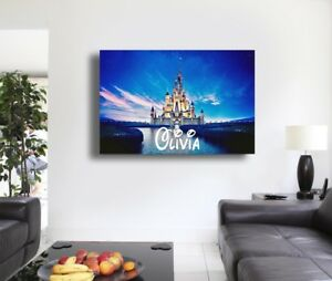 Personalised Disney Castle - Canvas Wall Art