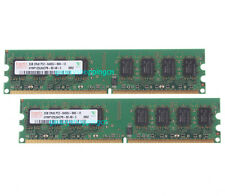 4 GB 4GB 2X 2GB 2 G DDR2 800MHz PC2-6400U 240PIN DIMM Desktop Memory RAM PC6400