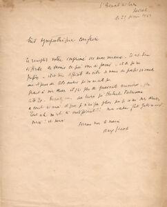 Max JACOB. Lettre autographe signée à Francis Dumont.