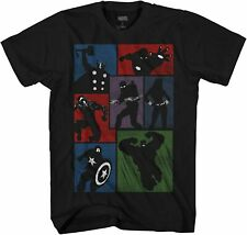 Marvel Shadow Group Avengers Adult Tee Graphic T-Shirt for Men Tshirt