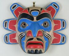 HAND-CARVED FIRST NATION TLINGIT OR HAIDA STYLE KOMOKWA LORD OF THE SEA MASK