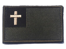 The cross Christ Badge USA MILITARY ISAF TACTICAL MORALE HOOK & LOOP  Patch H744