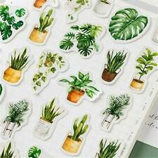 45Pcs Potted Plant Stickers Sealing Diary Label Sticker for Scrapbooking DIY