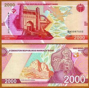 Uzbekistan, 2000 Sum, 2021, P-New, UNC