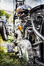 12x18 in. Vintage Harley Davidson Motorcycle, Poster Garage Art Man Cave