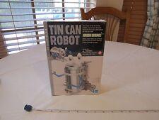 Tin Can Robot Green science 4M walking wobbling bog eyed fun mechanics KIT NEW