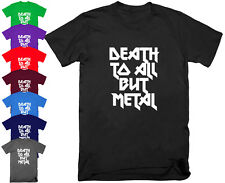 DEATH TO ALL BUT METAL Steel Panther Slogan Heavy Metal T Shirt Tee Top S - 5XL