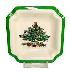 "Vintage Spode Christmas Tree Ashtray England 4.5"" Porcelain S3324 Dish"
