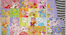 "Loralie Calico Cats Kitty Cat Cotton Fabric Loralie Harris  - 24""X44"" Panel"