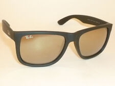 New RAY BAN  Justin Sunglasse Matte Black Rubber RB 4165 622/5A Gold Mirror 51mm