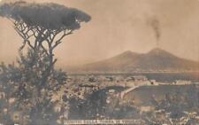 RPPC VESUVIO DALLA TOMBA DI VIRGILIO VOLCANO ITALY REAL PHOTO POSTCARD 1913