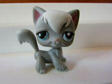 Littlest Pet Shop Long Hair Gray Cat Blue Eyes