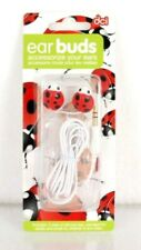 DCI Earbuds Head Phones Ladybug 3.5 mm Socket Corded Silicone