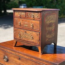 More details for haberdashery victorian small table top chest of drawers.