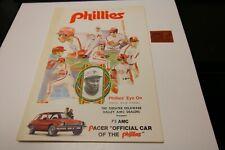 1975 PHILADELPHIA PHILLIES MLB SCORECARD PROGRAM WITH TICKET PITTSBURGH PIRATES