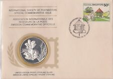 Singapore 1979 First Day Cover Limited Edition Sterling Silver Medallion Proof
