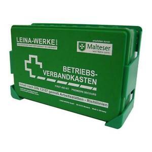 Betriebsverbandkasten DIN 13157 Verbandkasten Leina orange grün Erste Hilfe Neu