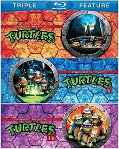 The Teenage Mutant Ninja Turtles Triple Collection 1, 2 & 3 Blu ray Set New RB