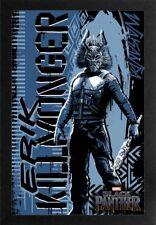 BLACK PANTHER KILLMONGER 13x19 FRAMED GELCOAT POSTER MARVEL COMICS MOVIE NEW HOT