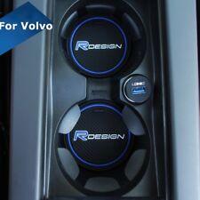 for Volvo Blue R design Car Cup Holder Mat XC60 V50 V70 S60 S80 S40 XC70 V60 C30