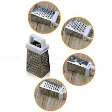 Stainless Steel 4 Sided Grater Cheese, Potatoes, Carrots Fine Medium Coarse LSRG