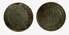 pcc2097_3) BRASILE BRAZIL  - 200 REIS 1893