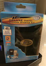 7 Piece Digital Camera Starter Kit Lens Cloth, Case, Charger, Tripod New In Box