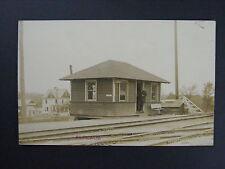 Alplaus New York Train Station Depot Real Photo Postcard RPPC Schenectady 1913