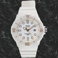 Casio LRW200H-7E2V Ladies Analog Watch White 100m WR Rotating Bezel Date New