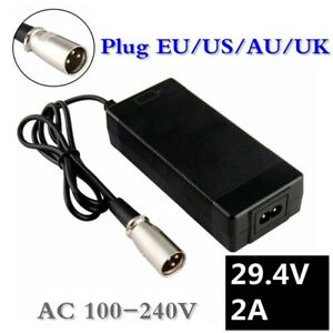 29.4V 2A Charger rechargeable Li-ion battery e-bike 24V 25.2V 25.9V 29.4V 7S XLR
