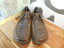 Ugg Brown Leather Sheepskin Lined Oxfords Men's 15M #1673