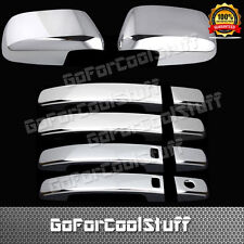 For Nissan Frontier 05-14 4Drs Handle W/Smrtkh+Mirror 2Pc Chrome Covers