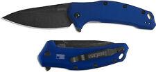 Kershaw Navy Blue Link BlackWash Plain Edge Knife 1776NBBW