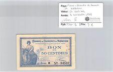 CHAMBRE DE COMMERCE NARBONNE - BILLET DE 50 CENTIMES 4-11-1915