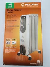 Pelonis 7Fin Large Room Electric Oil-Filled Gray Radiator Heater 1500W HO-0250H