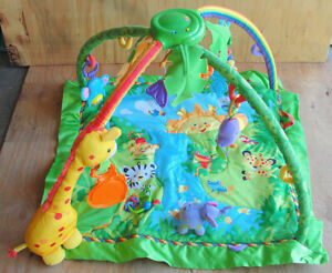Fisher Price FISHER-PRICE Rainforest Melodies & Lights Deluxe Gym Play Mat L@@K!