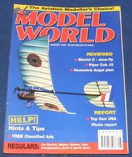 RADIO CONTROL MODEL WORLD MAGAZINE AUGUST 1997 - BLERIOT II - SLOW FLY/PIPER CUB