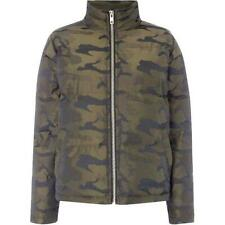 Label Lab Puffa Jacket Quilted Camo Coat Size UK 10 New