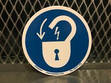 "Clarion Safety ~ Lock Out Electrical Power ~ 3"" X 3"" Label Sticker Free Us Ship"