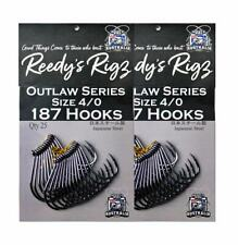 25x Fishing Hook 5/0 4/0 Reedy's 187 Suicide Beak Hook Chemcal sharpened