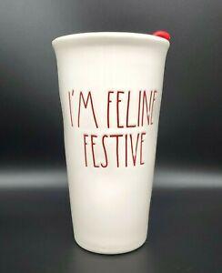 "Rae Dunn Holiday Tumbler ""I'm Feline Festive"" New"