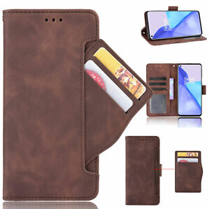 For OnePlus 9 /9 Pro, Separable Card Slots Flip Leather Wallet Soft Case Cover