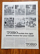 1958 Toro Lawn Mowers Power Mower Tractors Ad  Builds Right Mower for Needs
