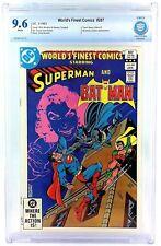 WORLD'S FINEST #287 CGC CBCS 9.6 NM+ 1983 BATMAN VS SUPERMAN HIGHEST GRADE DC