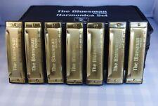 Bluesman Vintage Harmonica Coffret cadeau Set de 7-Touches de C, D, E, F, G, A, BB
