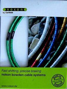 n.i.b. Nokon aluminium aluminum brake housing & cables; green (070 14)!