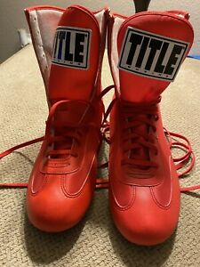 Mens Red Title Boxing Shoes Size 12 New
