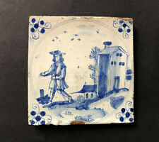 A remarkable English DELFT TILE, Possibly Brislington, Circa 1690
