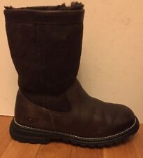 Ugg Genuine Shearling Leather Rubber Sole Boots Sz 5