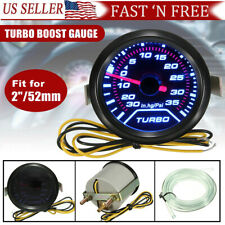 "Universal Car 2"" 52mm Led Psi Turbo Boost Gauge Pressure Vacuum Smoked Face Fast"